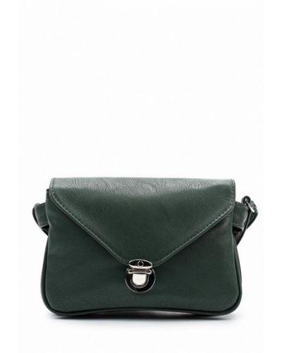 Зеленая сумка через плечо медведково