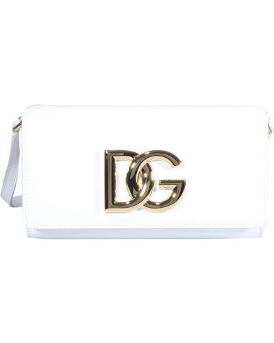 Kopertówka skórzana - biała Dolce And Gabbana