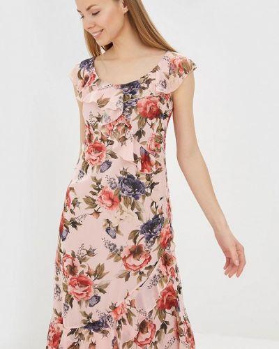 Платье розовое осеннее Solou
