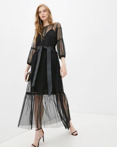 Черное вечернее платье Twinset Milano
