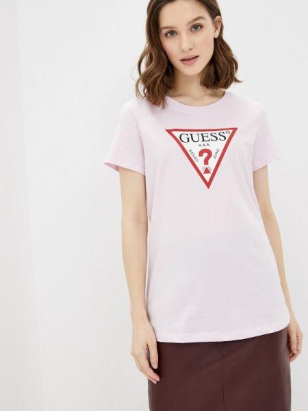Поло розовый футбольный Guess Jeans