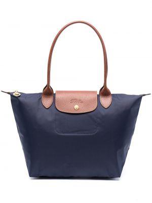 Кожаная сумка - синяя Longchamp