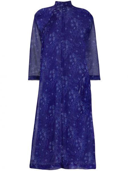 Платье миди с цветочным принтом платье-рубашка Comme Des Garçons Comme Des Garçons