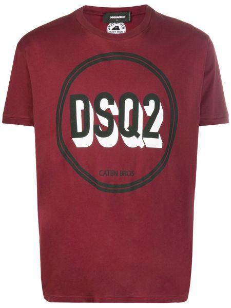 Koszula krótkie z krótkim rękawem z logo z nadrukiem Dsquared2
