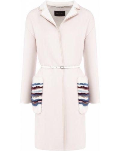 Пальто норковое с накладными карманами Loro Piana
