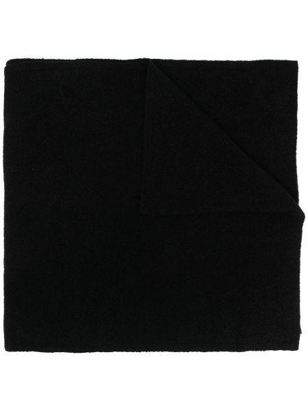 Тонкий кашемировый черный шарф вязаный оверсайз Andrea Ya'aqov