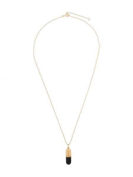 Ожерелье золотое с подвесками позолоченное True Rocks