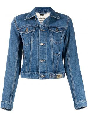 Хлопковая синяя джинсовая куртка с воротником Diesel