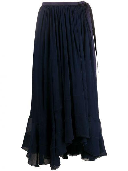 Spódnica asymetryczny niebieska Chloe