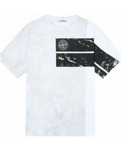 Biała t-shirt Stone Island
