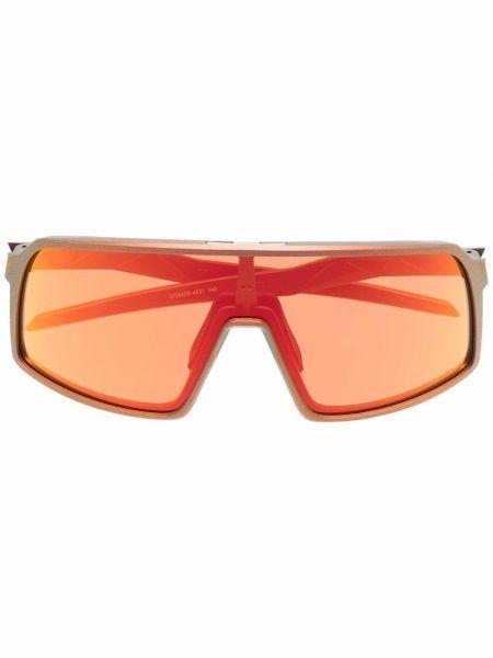 Złote okulary - pomarańczowe Oakley