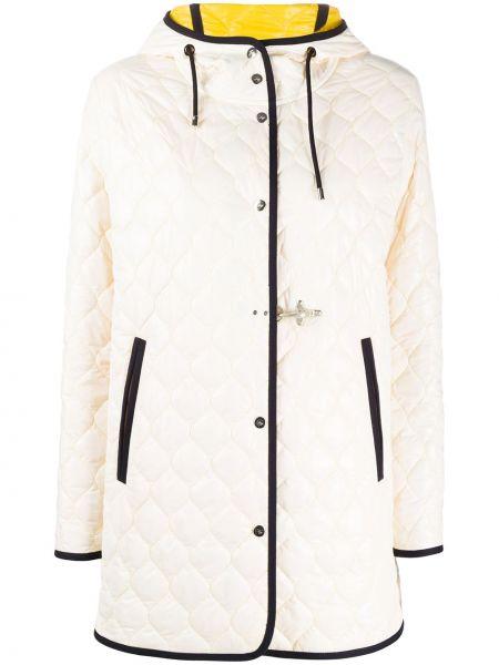 Куртка с капюшоном стеганая на пуговицах Fay