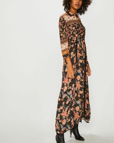 Платье макси из вискозы с карманами Desigual
