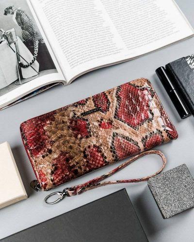 Beżowy portfel elegancki Lorenti