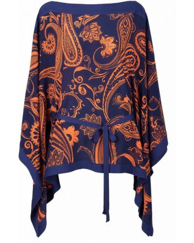 Блузка с поясом с узором пейсли Roberto Cavalli