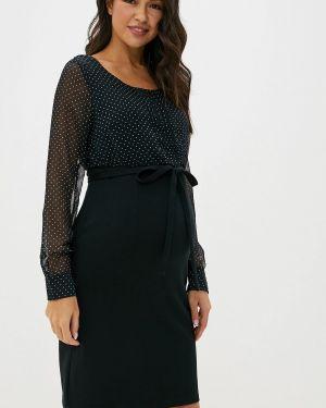 Платье для беременных осеннее черное Mama.licious