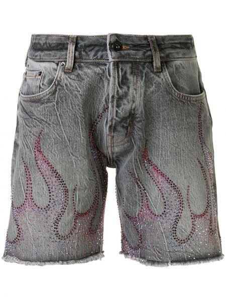 Хлопковые серые классические шорты Filles A Papa