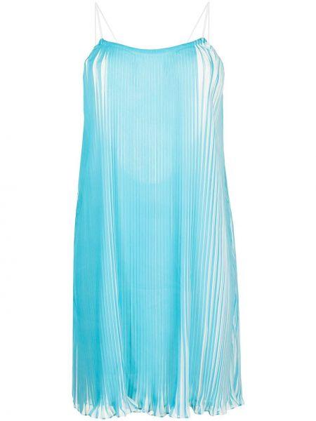Открытое синее платье мини с открытой спиной Bambah