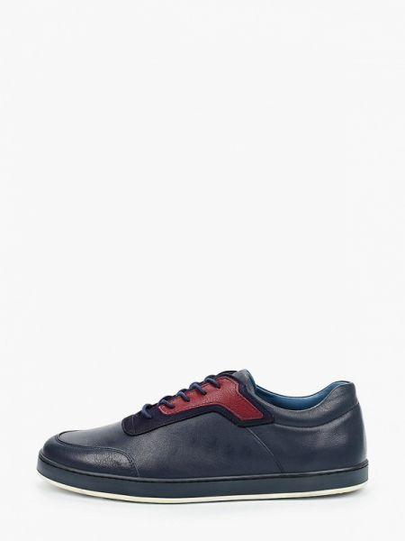 Кожаные синие кроссовки Pierre Cardin