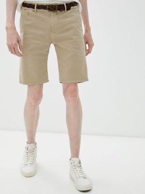 Повседневные бежевые джинсовые шорты Pepe Jeans