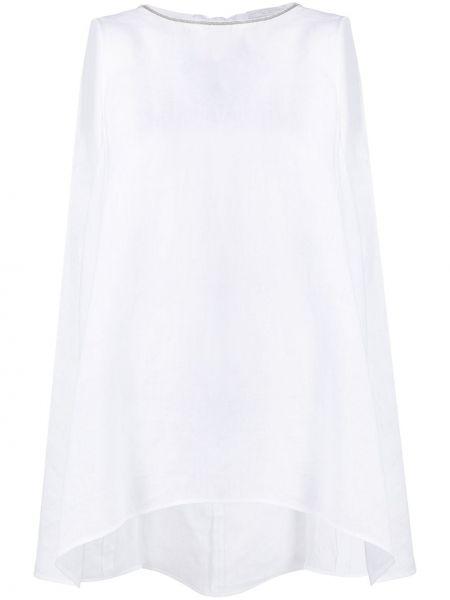 Свободная белая блузка без рукавов Fabiana Filippi