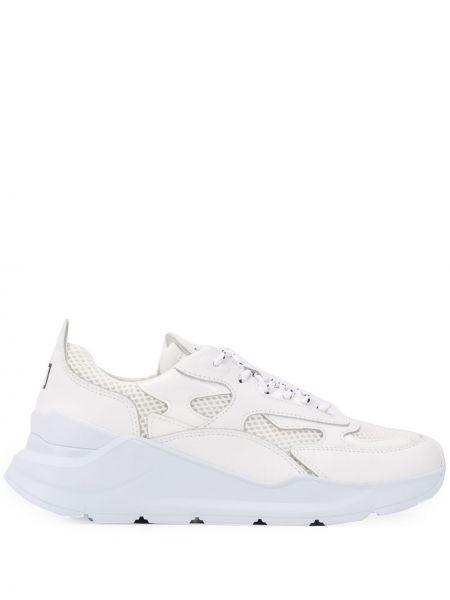Skórzane sneakersy białe z siatką D.a.t.e.