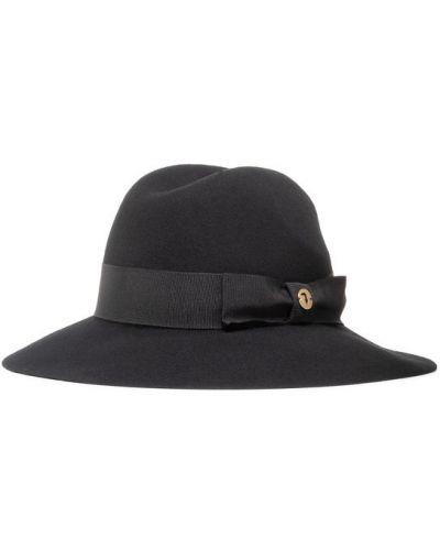 Czarny kapelusz Trussardi Jeans