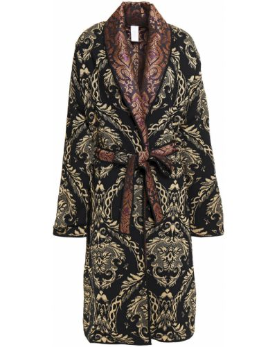 Czarny płaszcz wełniany Camilla