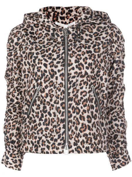 Прямая коричневая длинная куртка Veronica Beard