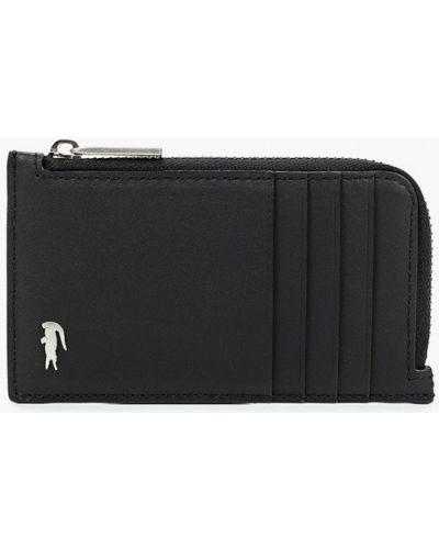 Кожаный кошелек - черный Lacoste