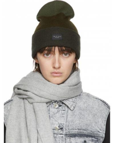 Шерстяная армейская черная шапка бини Rag & Bone
