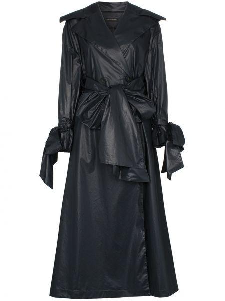 Черное пальто с поясом Vika Gazinskaya