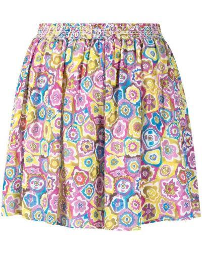 Розовые с завышенной талией шорты свободного кроя Missoni