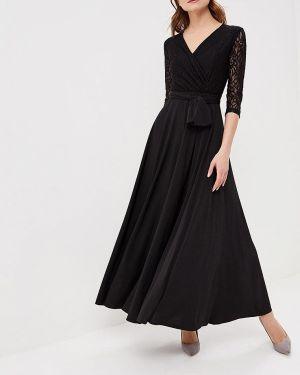 Вечернее платье осеннее черное Alina Assi