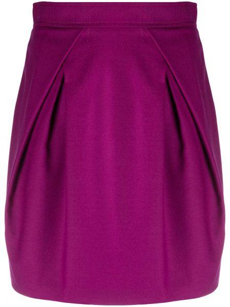 Шерстяная с завышенной талией плиссированная юбка Alberta Ferretti