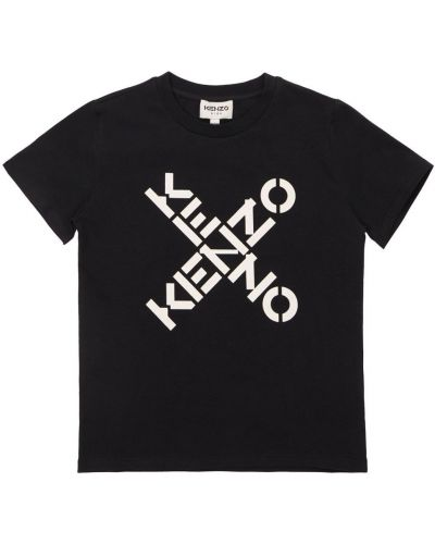 Лонгслив с принтом - черная Kenzo Kids