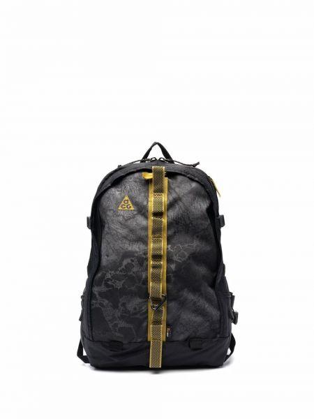 Czarny plecak z klamrą z nylonu Nike