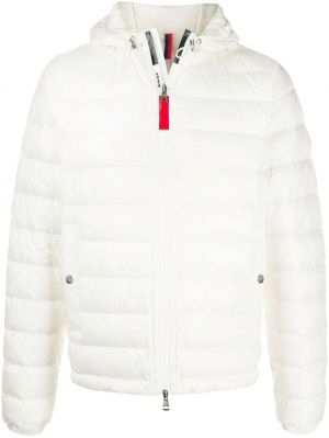 Biała kurtka pikowana z długimi rękawami Moncler