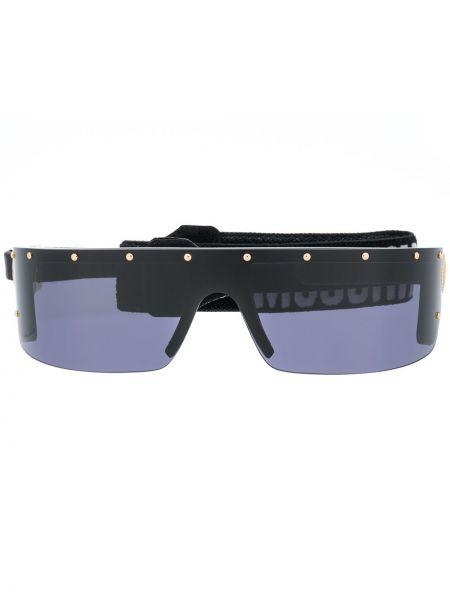 Черные солнцезащитные очки металлические Moschino Eyewear