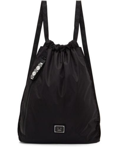 Черный рюкзак с карманами с аппликациями Acne Studios