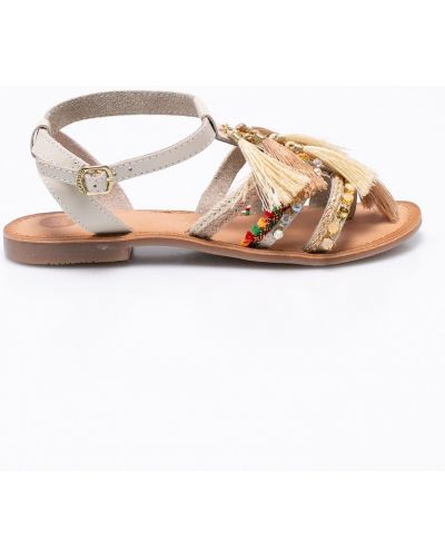 Бежевые сандалии кожаный Gioseppo