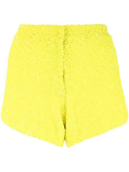 Нейлоновые желтые шорты с декоративной отделкой Manish Arora