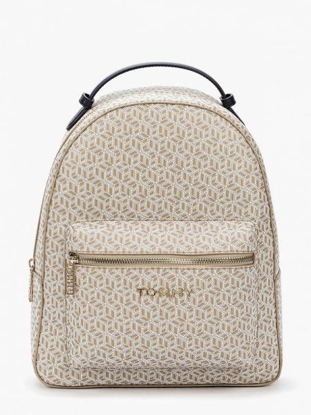 Городской бежевый рюкзак из искусственной кожи Tommy Hilfiger