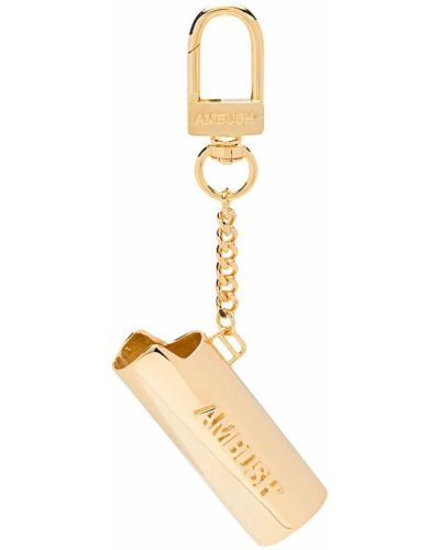 Ключница металлическая с тиснением золотая с декоративной отделкой Ambush