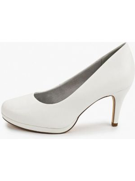 Кожаные туфли лодочки белый Tamaris