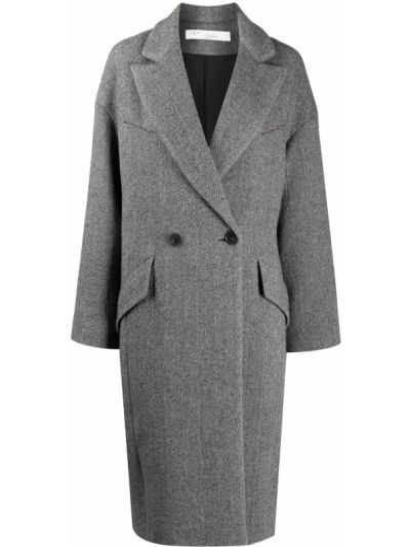 Белое шерстяное длинное пальто с лацканами с карманами Iro