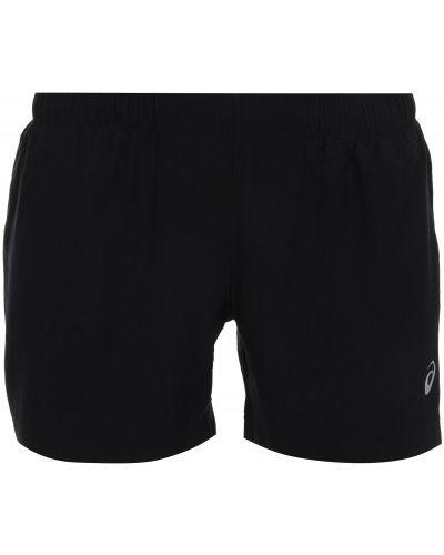 Спортивные шорты черные с карманами Asics