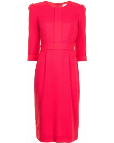 Шерстяное красное платье миди с вырезом Goat