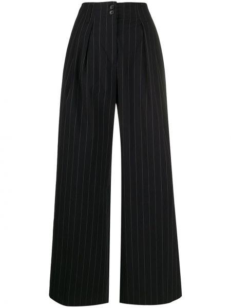 Черные брюки с карманами свободного кроя Paul Smith