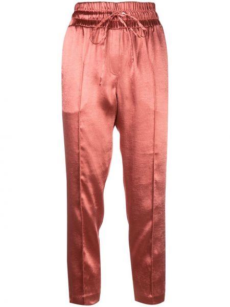 Свободные розовые брюки с поясом свободного кроя Cinq À Sept